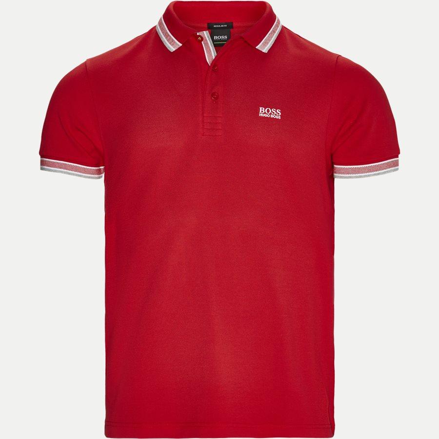 50398302 PADDY. - Paddy Polo T-shirt - T-shirts - Regular - RØD/HVID - 1