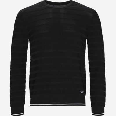 Pullover Strik Regular | Pullover Strik | Sort