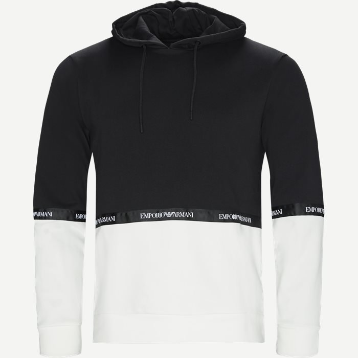 Sweatshirt Med Hætte - Sweatshirts - Regular - Sort