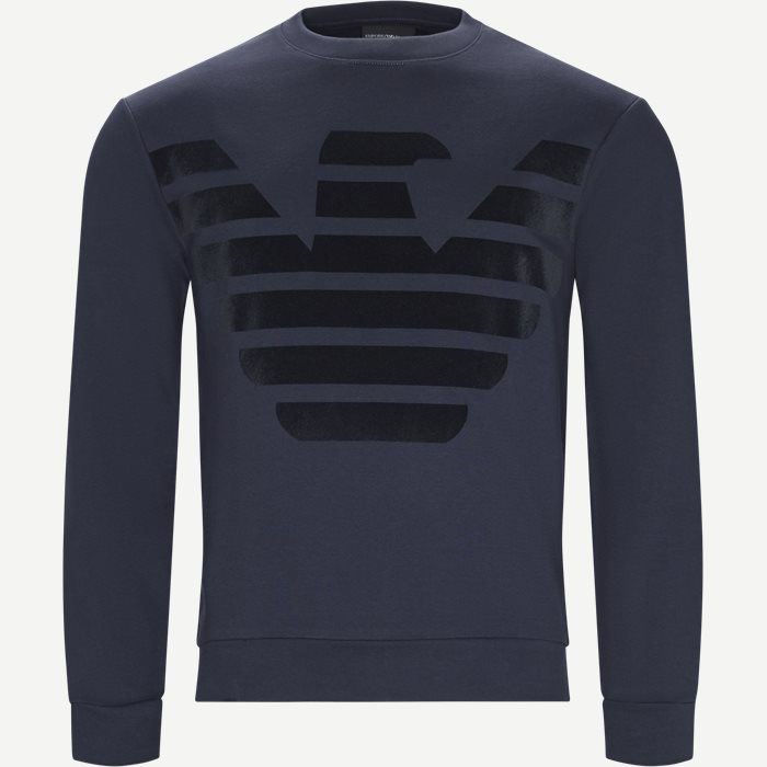 Crew Neck Sweatshirt - Sweatshirts - Regular - Blå