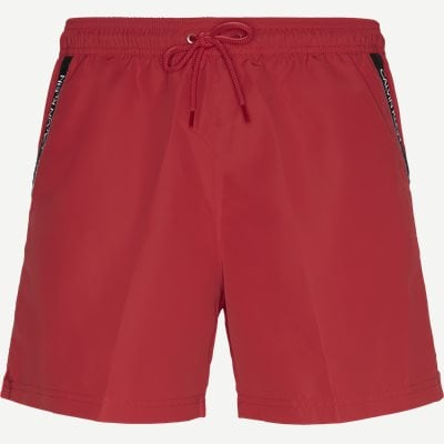 Medium Drawstring Badeshorts Regular | Medium Drawstring Badeshorts | Rød