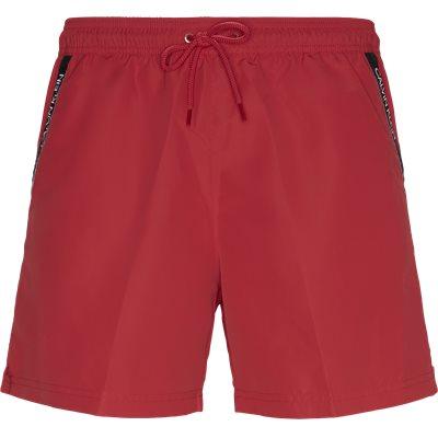Medium Drawstring Badeshorts Regular | Medium Drawstring Badeshorts | Rød