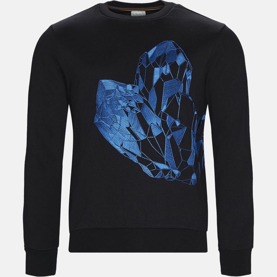 302S2 A00347 - Sweatshirt  - Sweatshirts - Regular fit - BLACK - 1