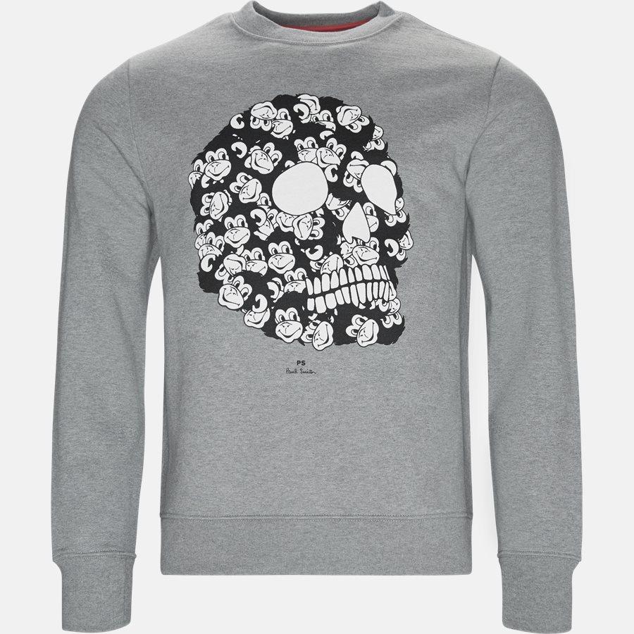 27R P1059 - Sweatshirt  - Sweatshirts - Regular fit - GREY - 1