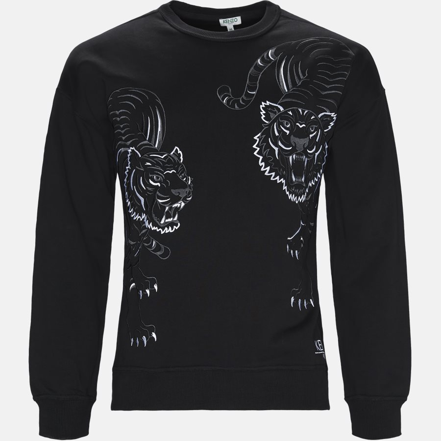 F865SW3084XV - Sweatshirts - Regular fit - BLACK - 1
