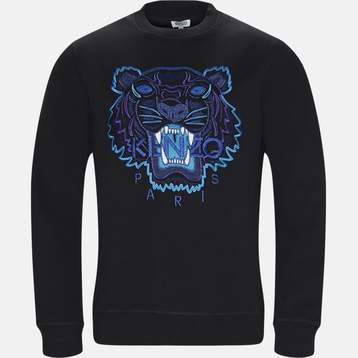 Sweatshirts - Regular slim fit - Sort