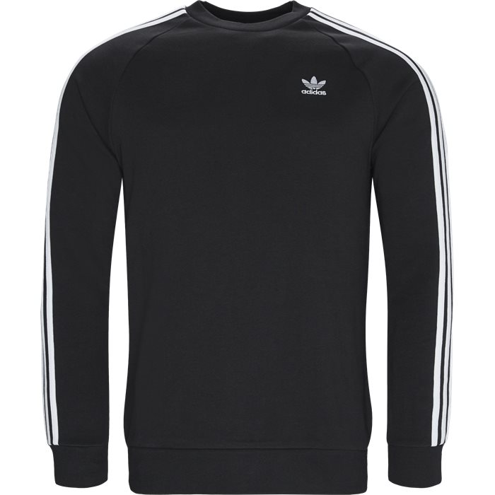 3-Stripes Crew - Sweatshirts - Regular - Sort
