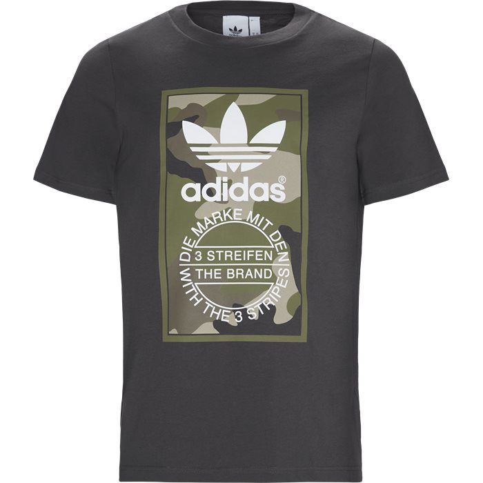 Camo Tee - T-shirts - Regular - Grå