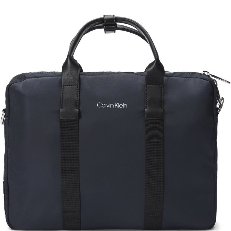 calvin klein Calvin klein k50k504223 braced 1 g laptop ba tasker navy på axel.dk