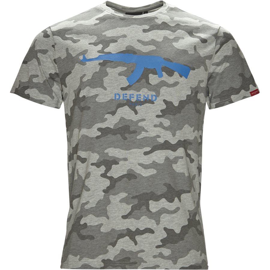 RUBBER TEE - Rubber Tee  - T-shirts - Regular - GRÅ - 1