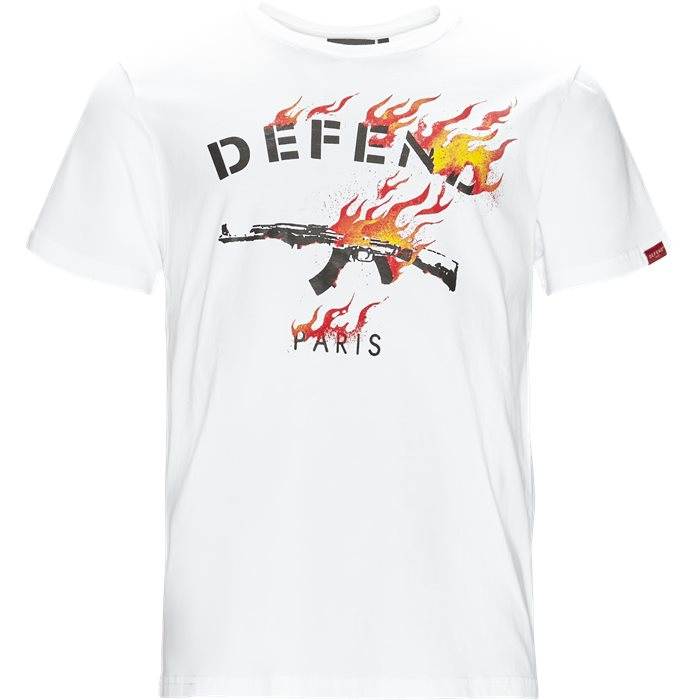 Fire Tee - T-shirts - Regular - Hvid