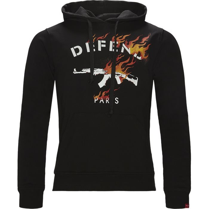Fire Hood - Sweatshirts - Regular - Sort