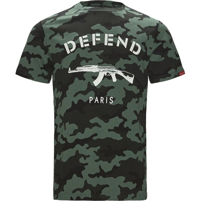 Paris Tee Camo - T-shirts - Regular - Army
