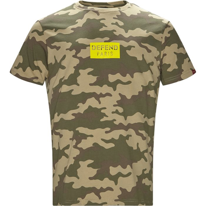 Q-Paris Tee Box Camo - T-shirts - Regular - Army