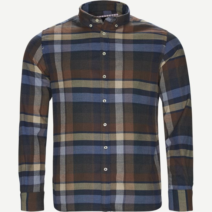 Wooden Flanel Shirt - Skjorter - Casual fit - Brun