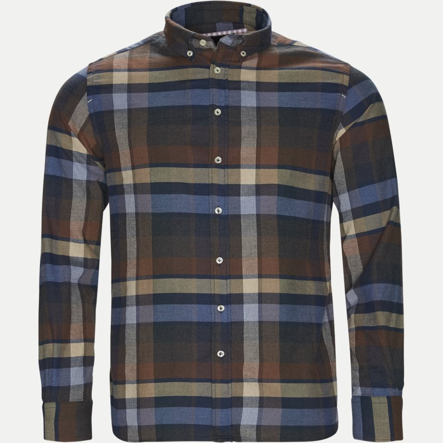 04528 WOODEN FLANEL SHIRT - Wooden Flanel Shirt - Skjorter - Casual fit - BRUN - 1