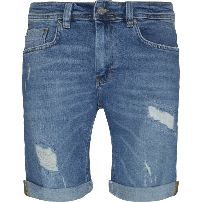 PIllow Blue Holes Mike Shorts - Shorts - Regular - Denim
