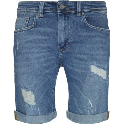 PIllow Blue Holes Mike Shorts Regular | PIllow Blue Holes Mike Shorts | Denim