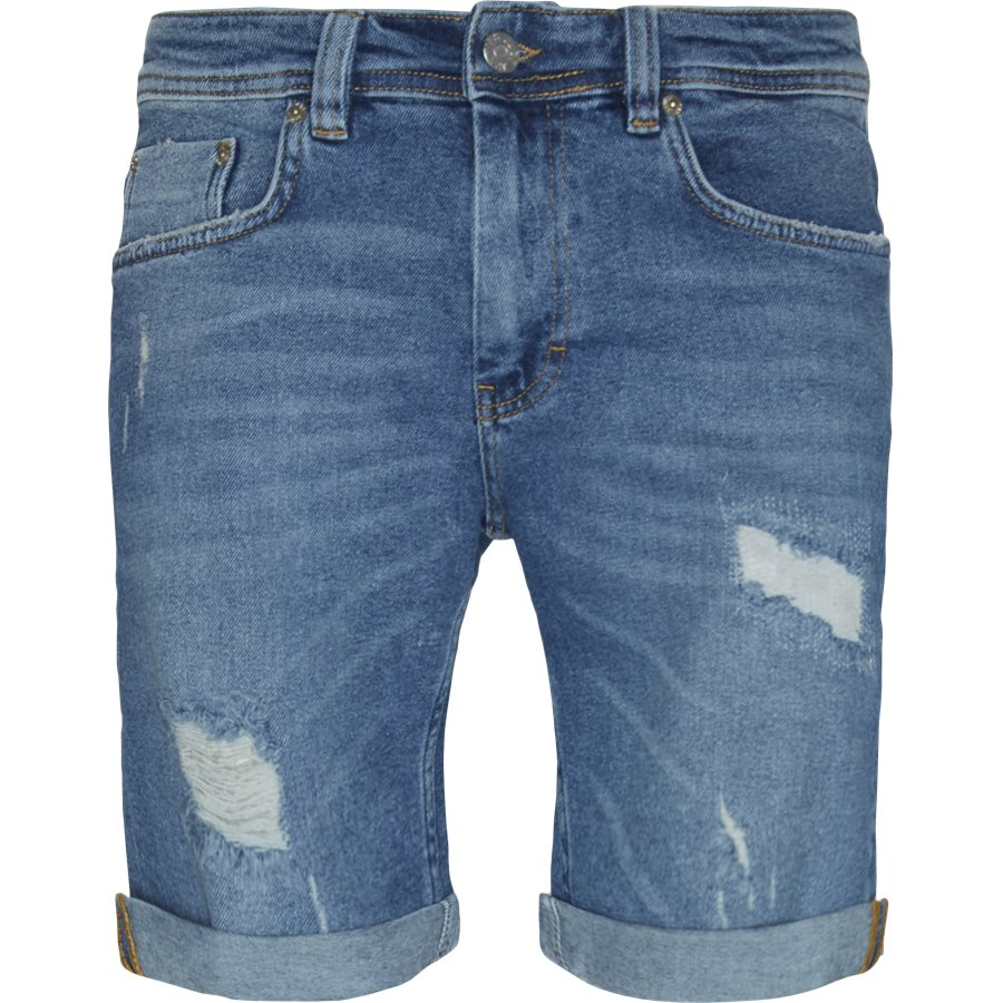 PILLOW BLUE HOLES MIKE SHORTS - PIllow Blue Holes Mike Shorts - Shorts - Regular - DENIM - 1