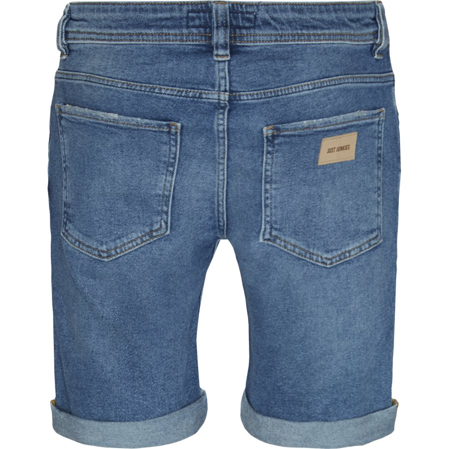 PILLOW BLUE HOLES MIKE SHORTS - PIllow Blue Holes Mike Shorts - Shorts - Regular - DENIM - 2