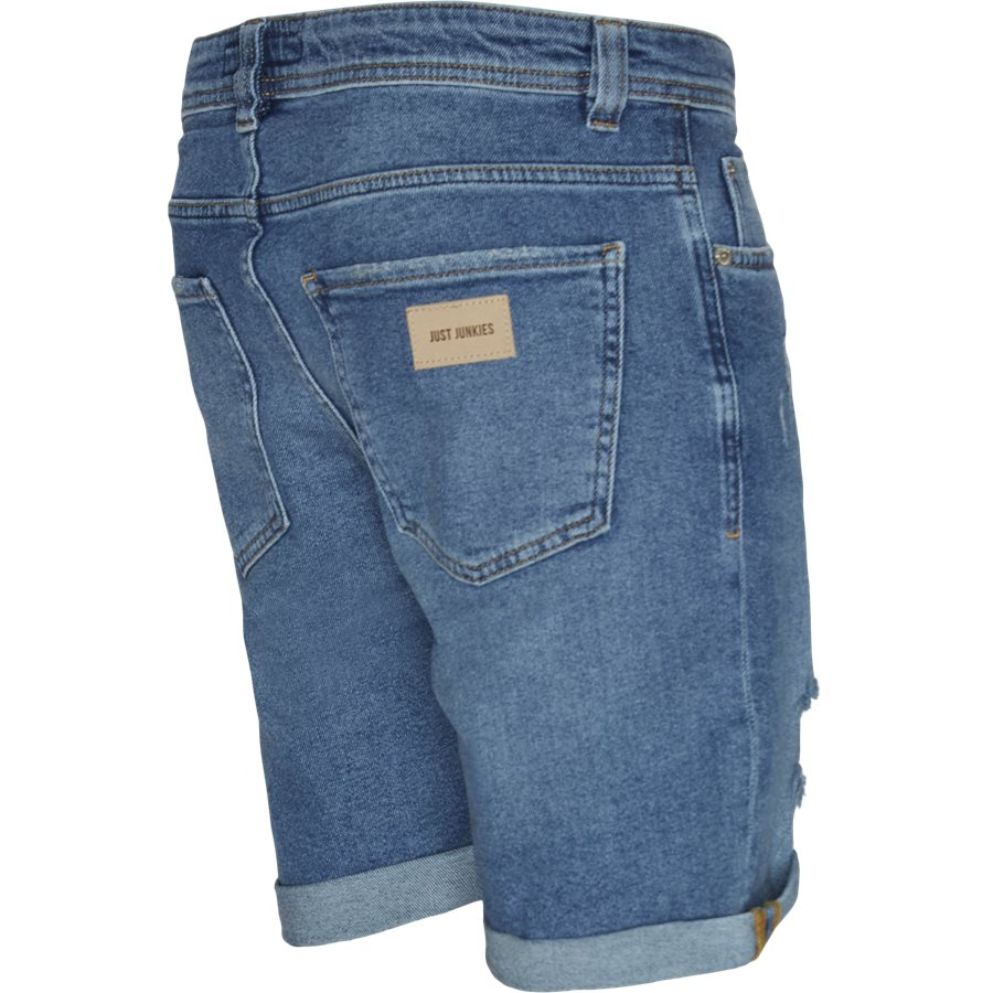 PILLOW BLUE HOLES MIKE SHORTS - PIllow Blue Holes Mike Shorts - Shorts - Regular - DENIM - 3