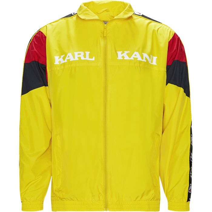 Retro Block Track Jacket - Sweatshirts - Regular - Gul