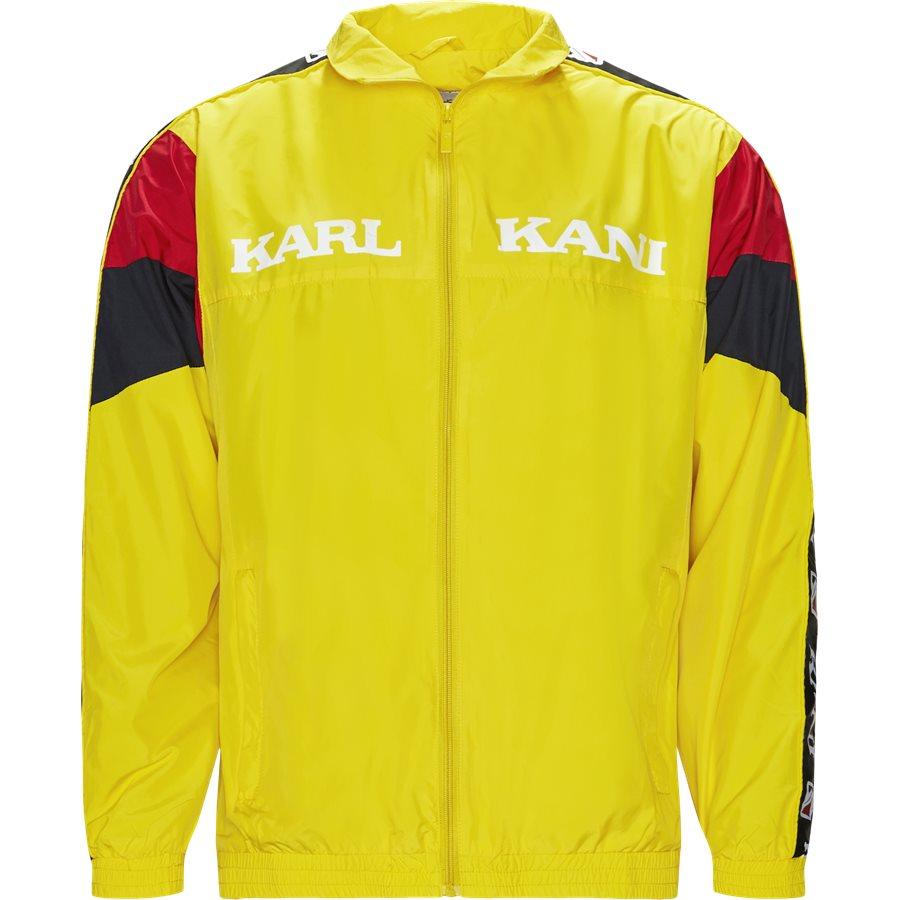 RETRO BLOCK TRACKJACKET 3581937 - Retro Block Track Jacket - Sweatshirts - Regular - GUL - 1