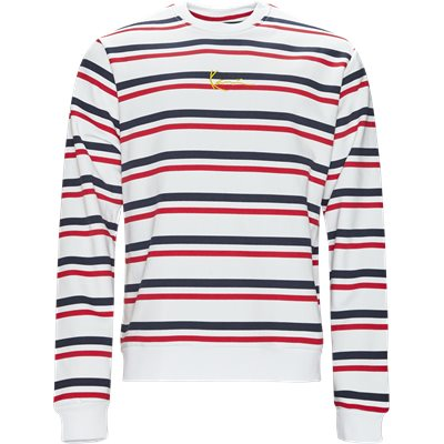 Signature Stripe Crew Regular | Signature Stripe Crew | Hvid