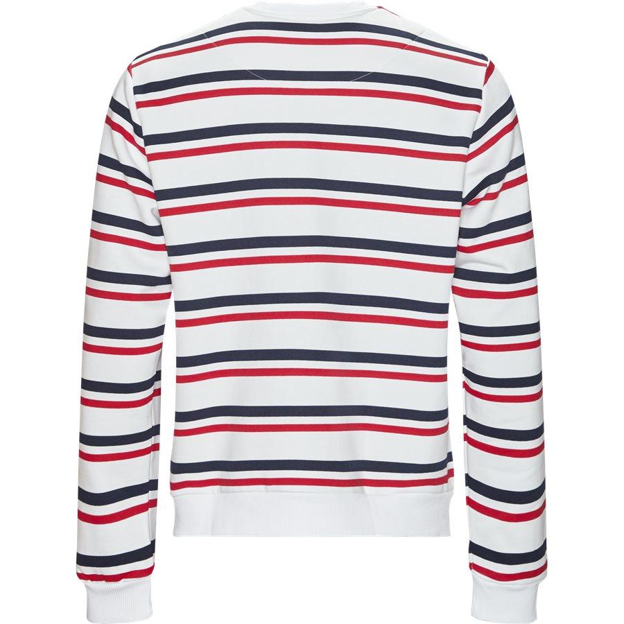 SIGNATURE STRIPE CREW 3581907 - Signature Stripe Crew - Sweatshirts - Regular - HVID/RØD - 2