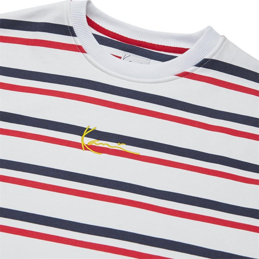 SIGNATURE STRIPE CREW 3581907 - Signature Stripe Crew - Sweatshirts - Regular - HVID/RØD - 3