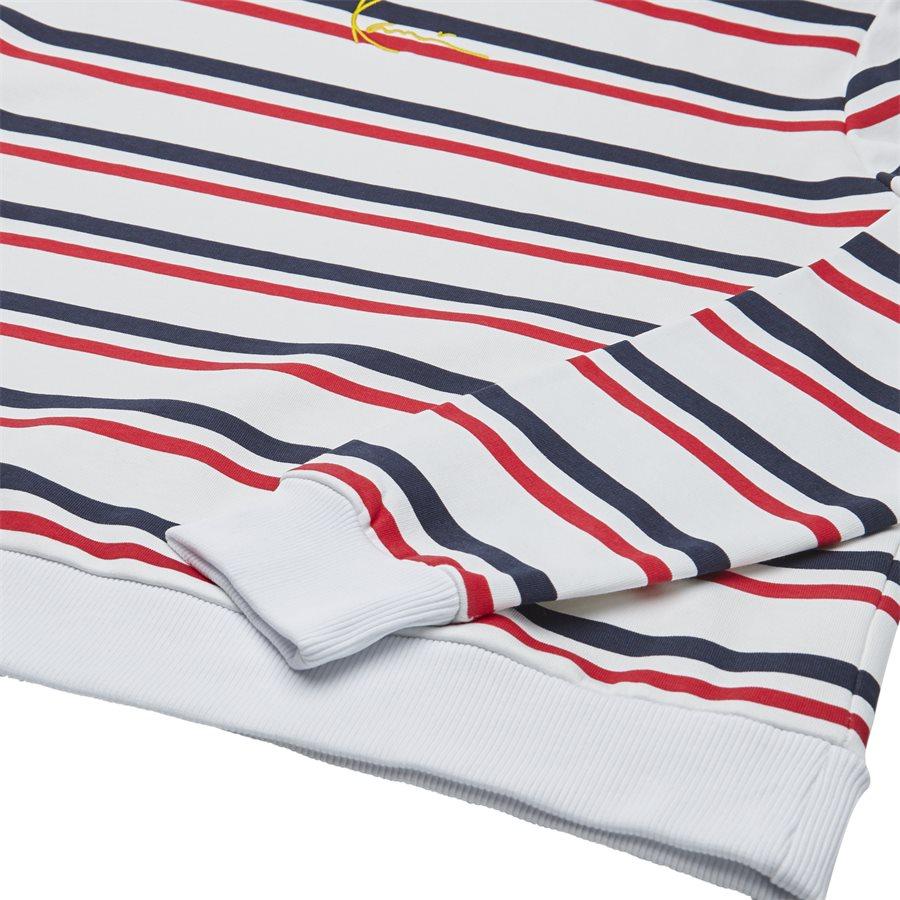 SIGNATURE STRIPE CREW 3581907 - Signature Stripe Crew - Sweatshirts - Regular - HVID/RØD - 4