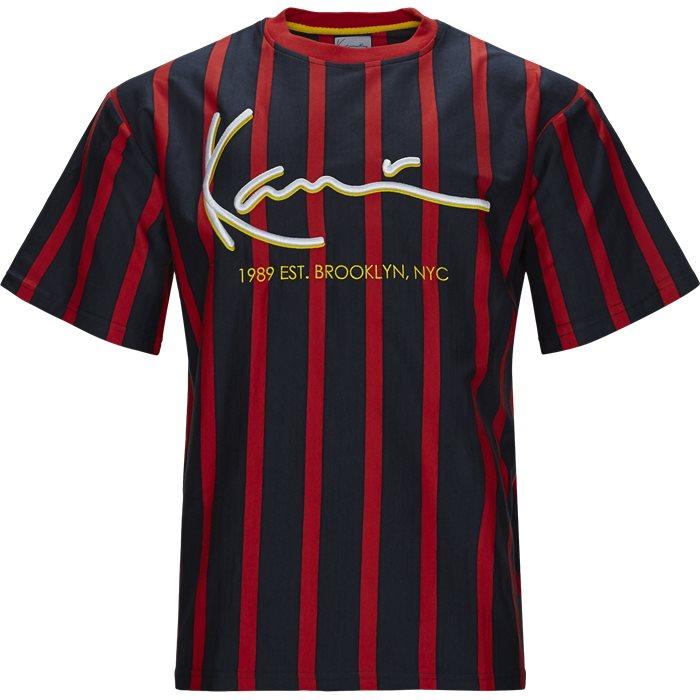 Signature Pinstripe  - T-shirts - Regular fit - Blå