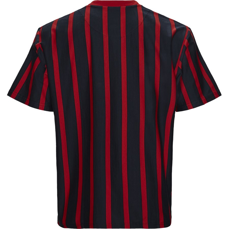 SIGNATURE PINSTRIPE TEE 3581868 - Signature Pinstripe  - T-shirts - Regular fit - NAVY/RØD - 2