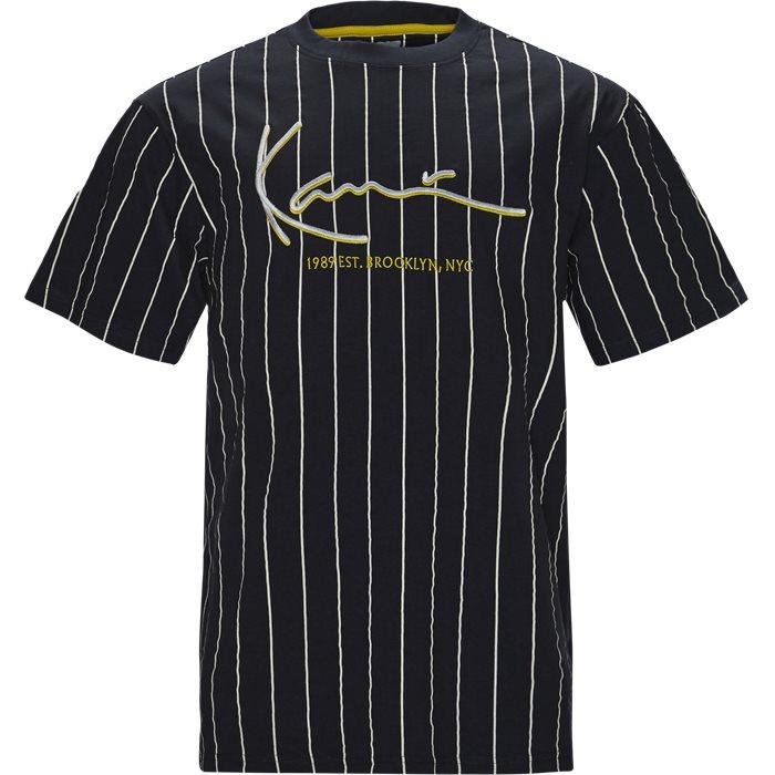 Signature Pinstripe  - T-shirts - Regular - Blå