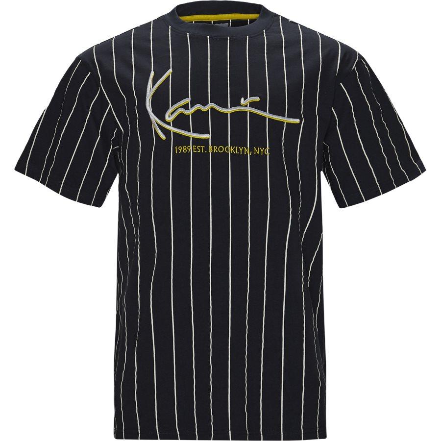 SIGNATURE PINSTRIPE TEE 3581851 - Signature Pinstripe  - T-shirts - Regular - NAVY/HVID - 1