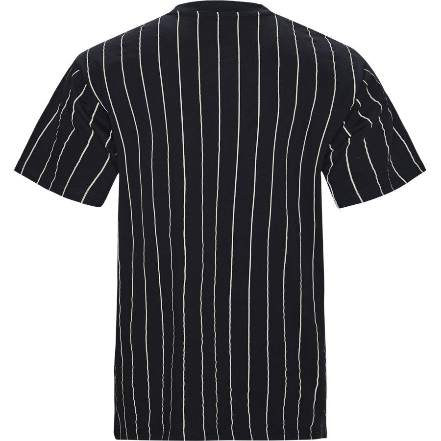 SIGNATURE PINSTRIPE TEE 3581851 - Signature Pinstripe  - T-shirts - Regular - NAVY/HVID - 2
