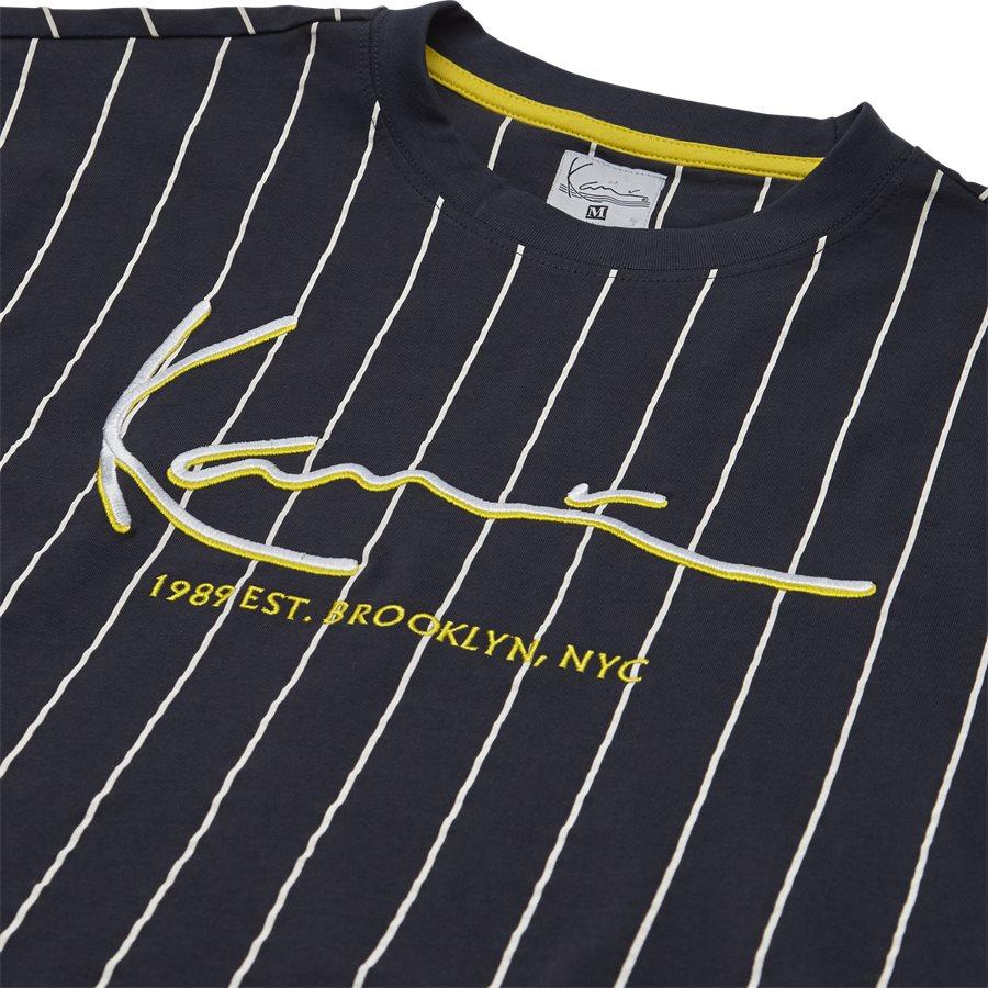 SIGNATURE PINSTRIPE TEE 3581851 - Signature Pinstripe  - T-shirts - Regular - NAVY/HVID - 3