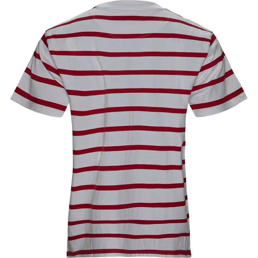 SIGNATURE STRIPE TEE 3581852 - Signature Stripe Tee - T-shirts - Regular - HVID/RØD - 2