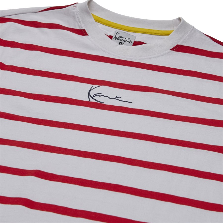 SIGNATURE STRIPE TEE 3581852 - Signature Stripe Tee - T-shirts - Regular - HVID/RØD - 3