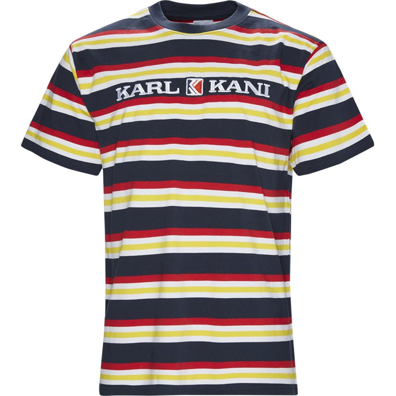 Image of   Karl Kani Retro Stripe Tee Navy/rød