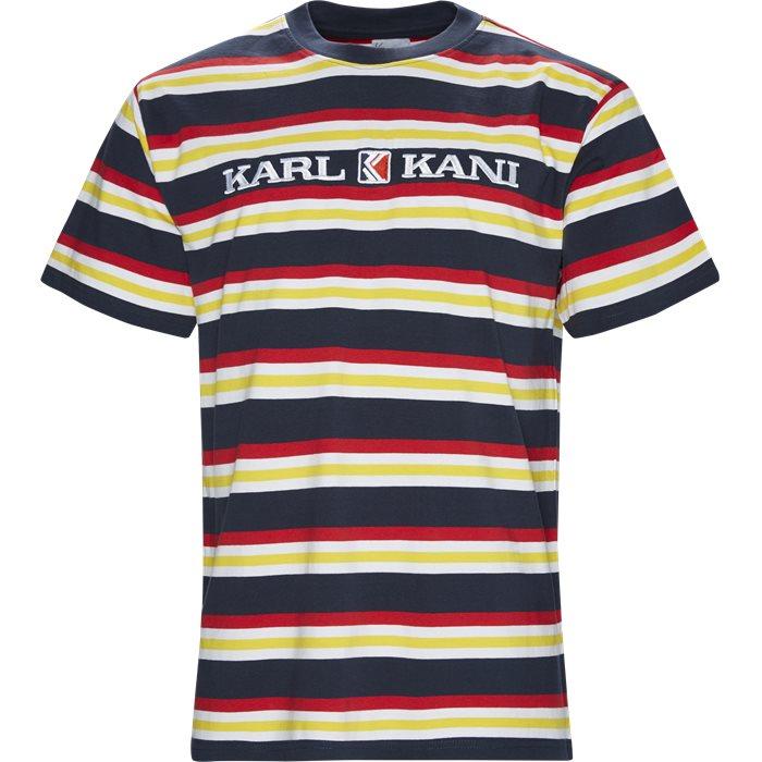 Retro Stripe Tee - T-shirts - Regular - Blå