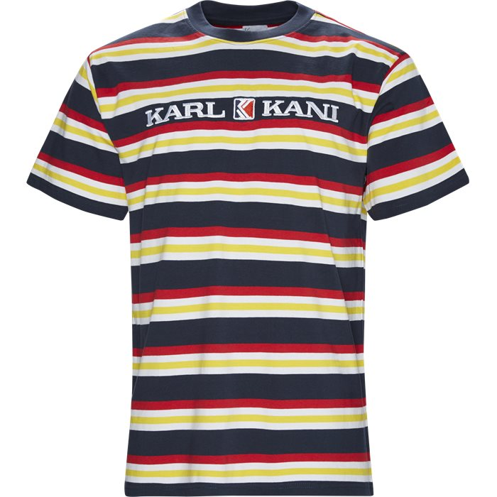 Retro Stripe Tee - T-shirts - Regular - Blå