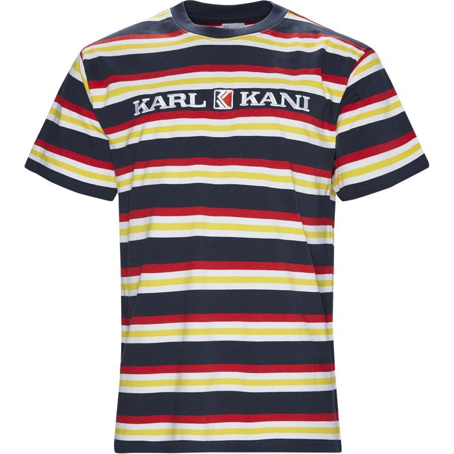 RETRO STRIPE TEE 3581858 - Retro Stripe Tee - T-shirts - Regular - NAVY/RØD - 1