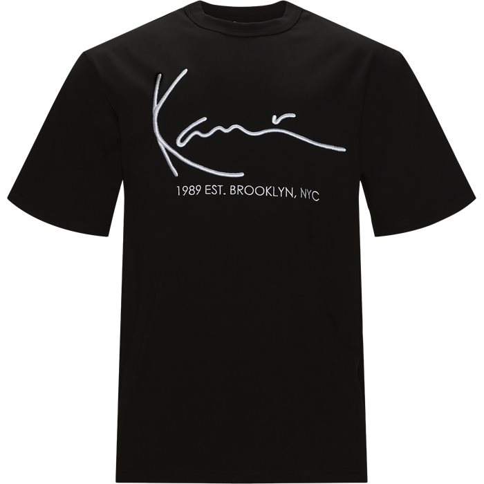 Signature Tee - T-shirts - Regular - Sort
