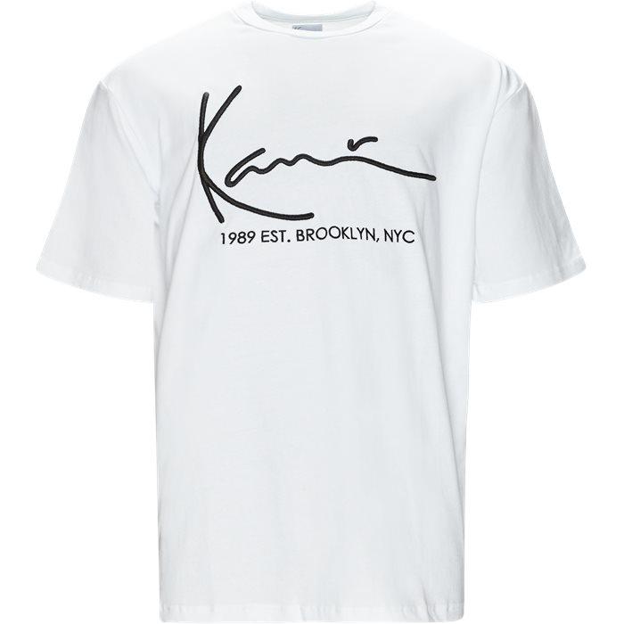 Signature Tee  - T-shirts - Regular fit - Hvid