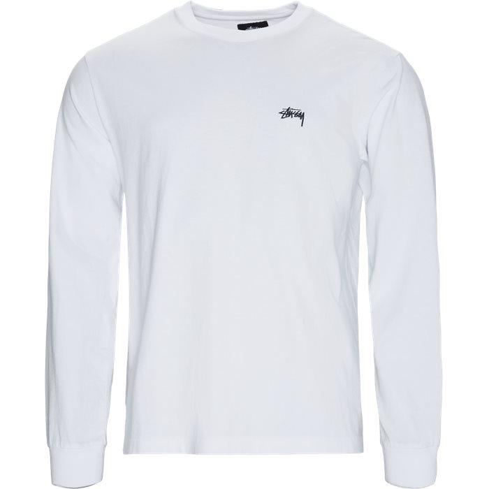 Stock LS Crew - T-shirts - Regular - Hvid