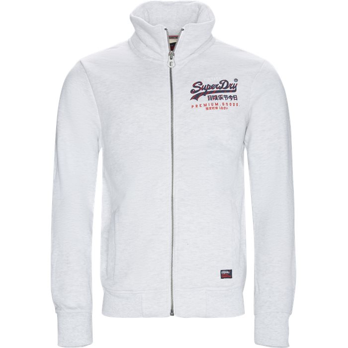 M20116AT Zip Sweat - Sweatshirts - Regular fit - Grå