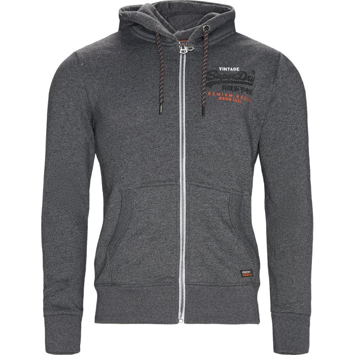 M20115AT Zip Hoodie - Sweatshirts - Regular - Grå