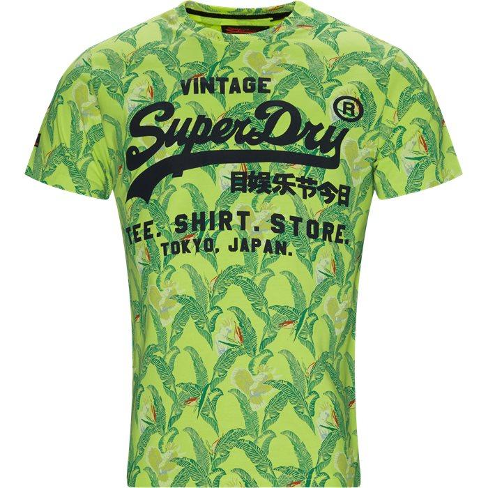 T-shirts - Regular fit - Grön