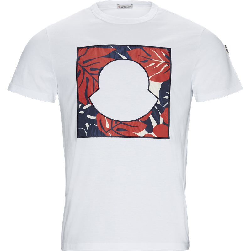 Billede af Moncler Regular fit 80447-50-8390T T-shirts Hvid